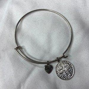 Jewelry - Silver Cross Expandable Bangle Charm Bracelet